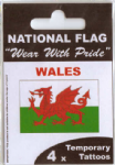 Wales Country Flag Tattoos.